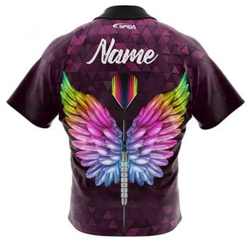 Angel-Wings-Dart-Shirts-back-Personalised