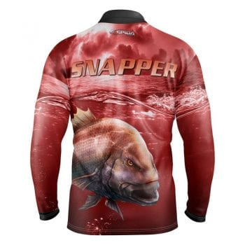 Snapper-Storm-Sublimated-Fishing Shirts-Back-3D