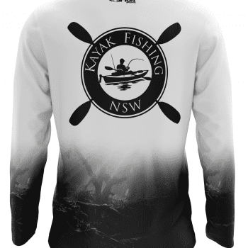 Riverbed White Fishing Tees back