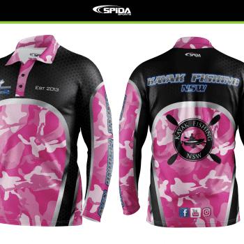 Kayak fishing shirt NSW Pink