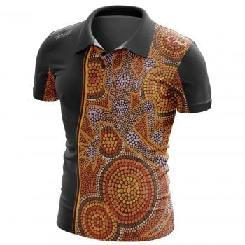 Goanna-By-W.-hill aboriginal shirt