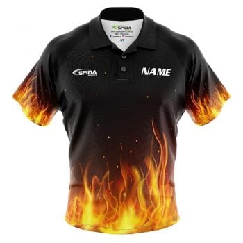 Flaming Tenpin Bowling Shirts