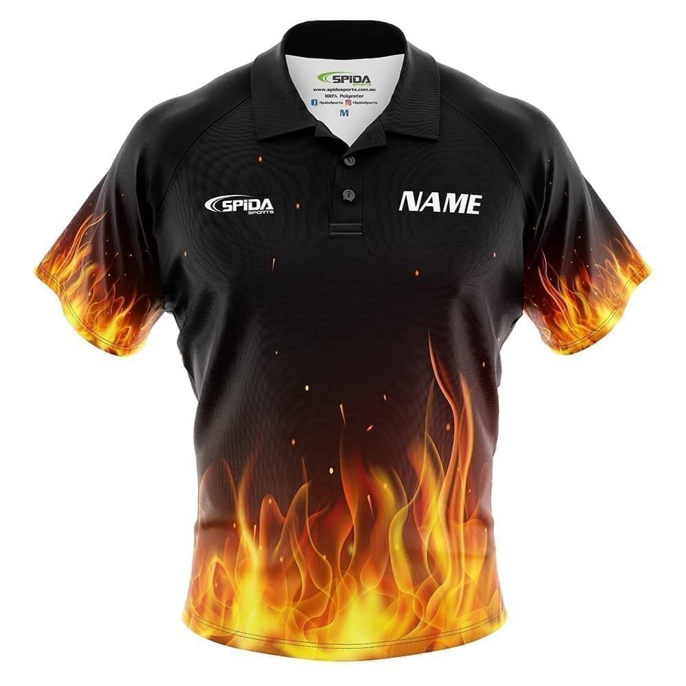 Flaming Tenpin Bowling Shirts