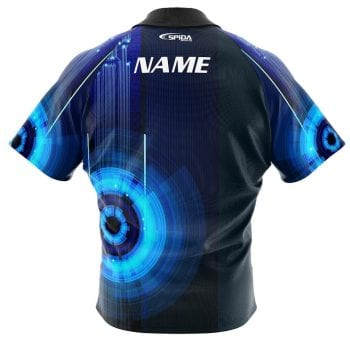 Digital Tepin bowling shirt back