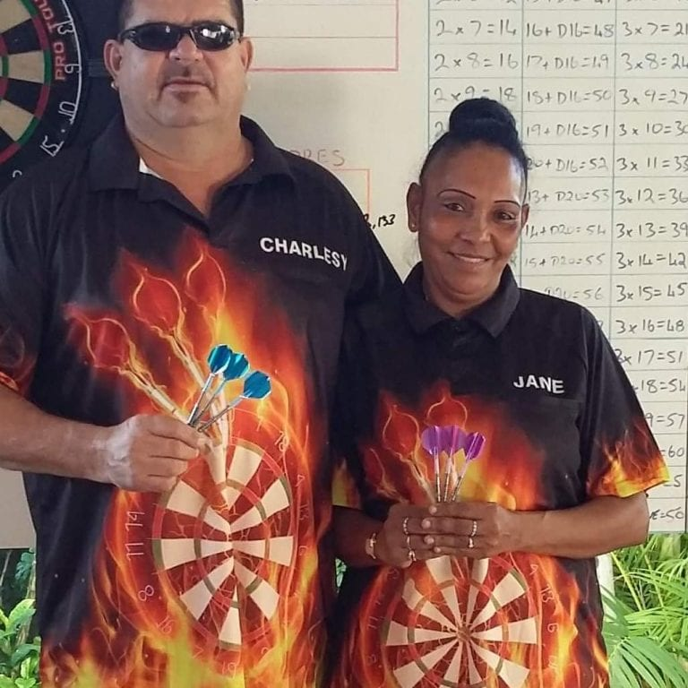 Inferno Dart Shirts Customer