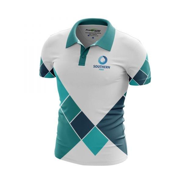 Tiles Sublimated Polo Shirts