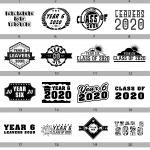 YEAR SIX 2020 Screen print TEMPLATES