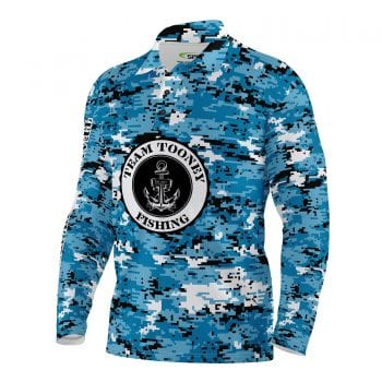 Team Tooney Fishing Shirts Blue Camo