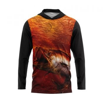 Mackerel-Frenzy-Hooded-fishing-Shirt-Front