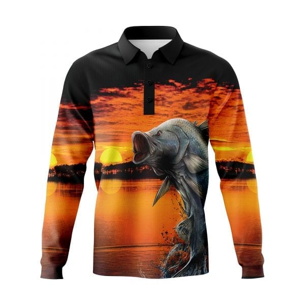 Sunset-Barra-Fishing-shirts-3D-Front